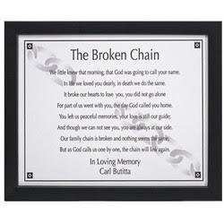 Broken Chain Poem To Print The Broken Chain Verse Photo Frame