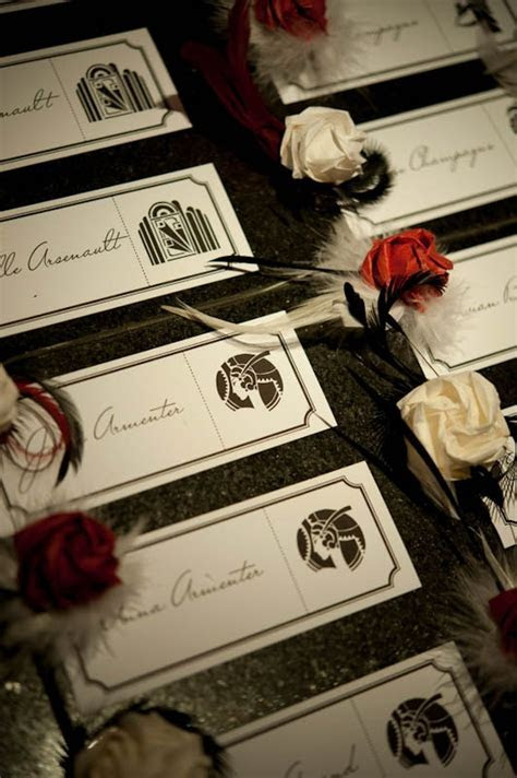 Great Gatsby/Art Deco inspired wedding   Favors, Escort