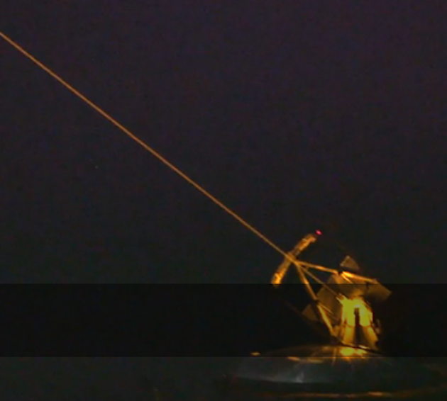 Screenshot of the Air Force laser-guided telescope from '60 Minutes'