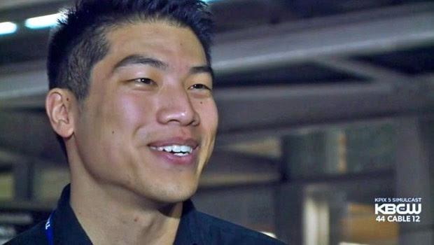 Hubert Tang ganhou US$ 1 milhão em raspadinha ao comprar bilhete com dinheiro achado na rua (Foto: Reprodução/YouTube/TvReportNews)
