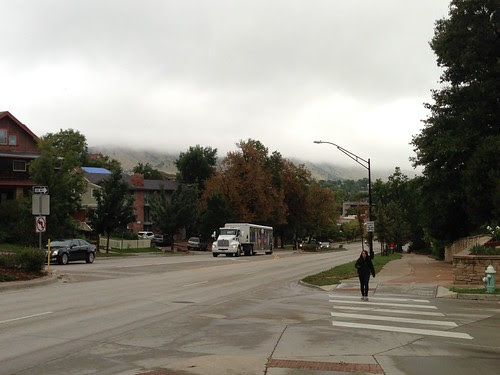 The hill up to CU (University of Colorado-Boulder)