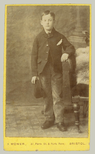 CDV boy with hat and coat