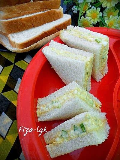sandwich telur semudah abc fizas cooking