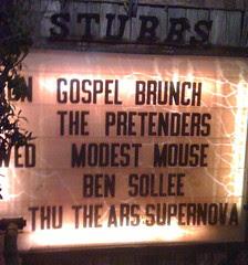 The Pretenders at Stubbs 3/1/09