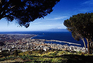 veduta di Reggio Calabria, view of Reggio Calabria