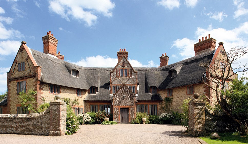 Eight bedroom Happisburgh Manor in Norfolk comes with a heated pool and is on the market for £800,000