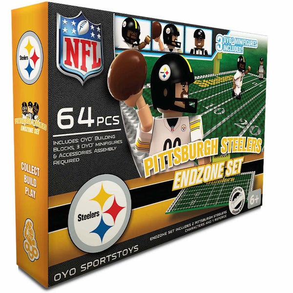 Oyo NFL Pittsburgh Steelers 64Piece End Zone Building Set  17605929  Overstock.com Shopping