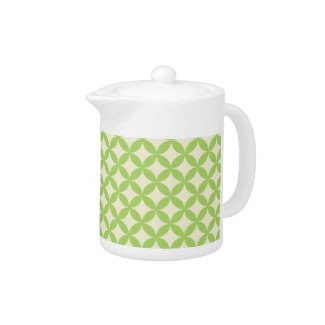 Modern Green Pattern Teapot zazzle_teapot