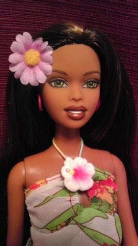 hawaiian hair cali girl barbie christie fashion doll