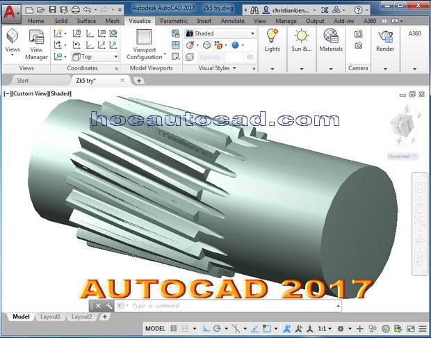 Cài đặt Autocad 2017