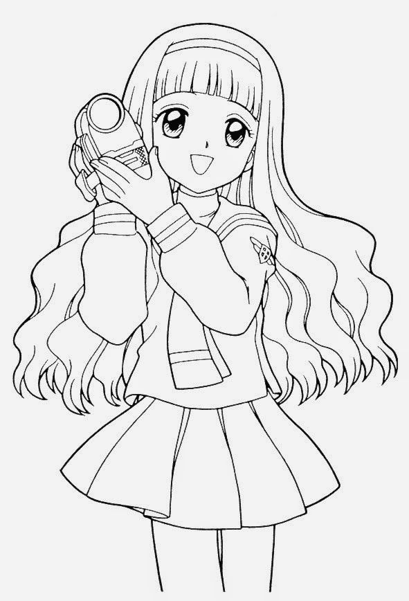 Anime Coloring Pages Online Coloring And Drawing