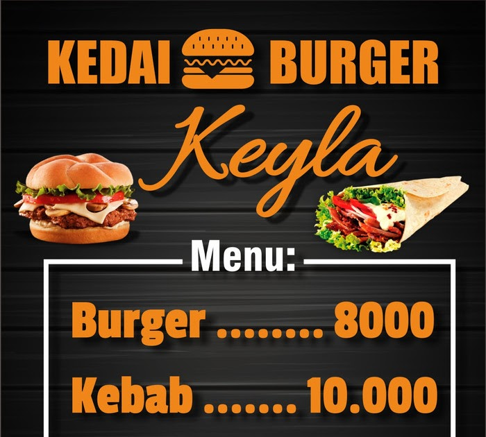 Contoh Desain Banner Burger