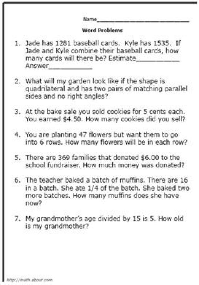 4th grade math word problems_668933