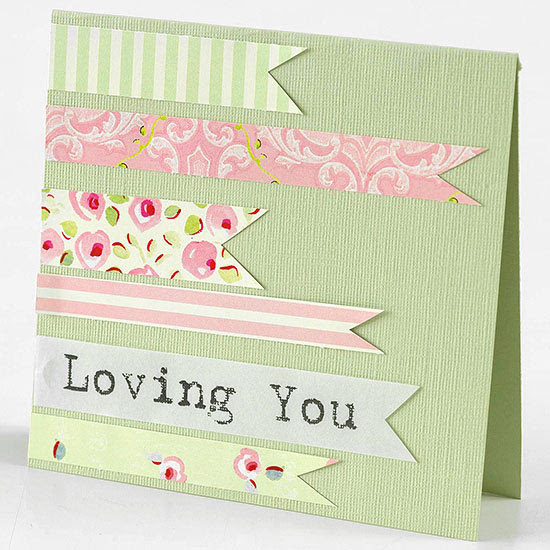 Faux Ribbons Valentine's Day Card