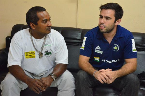 """Nilton """"Sombra"""", presidente da Federação Potiguar e Breno Ponte, da Confederação Brasileira"""
