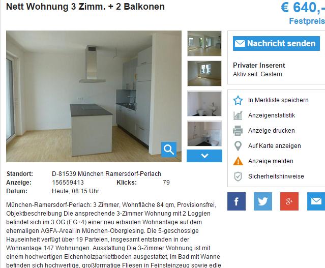 Nett wohnung 3 zimm 2 balkonen m nchen ramersdorf perlach for Nett wohnung mannerbude