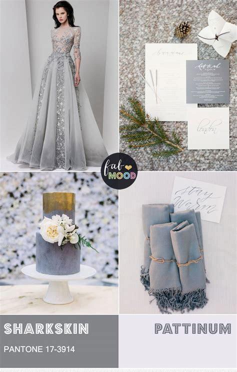 Pantone Fall 2016 Sharkskin Wedding Colour Theme