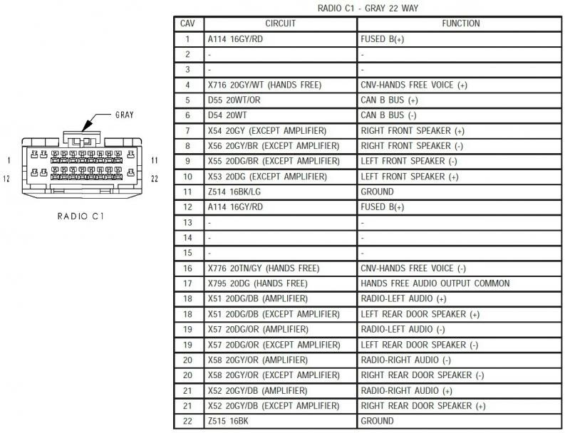 2008 Dodge Ram 3500 Radio Wiring Diagram
