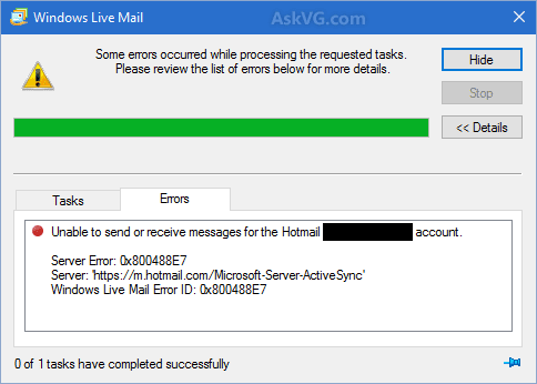[Fix] KB3093594 Update Causing Email Sync Problems to Windows Live Mail 2012 Users
