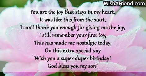 You Are The Joy Son Birthday Poem