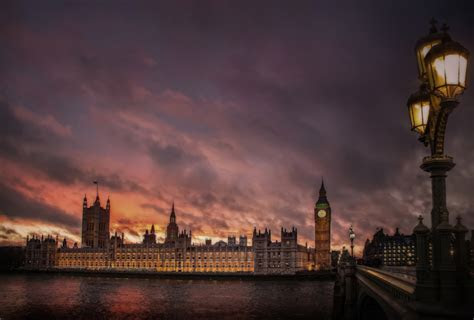 London at night photography