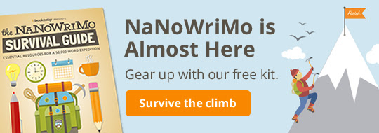 NaNoWriMo is Almost Here. Gear up with our free kit.