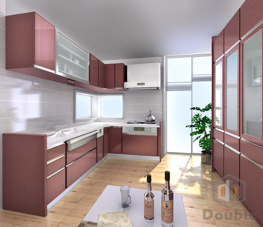 Acrylic Cabinet Door Kitchen Cabinet Kitchen Cabinet Double Building Materials Co