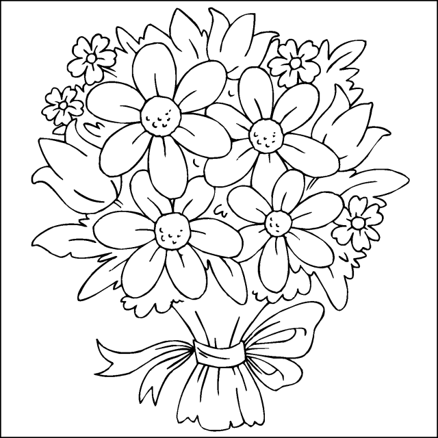 Dibujos Para Colorear Ramos De Flores Imagui