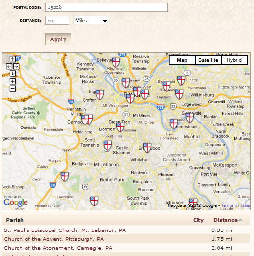 Partial search results for ZIP Code 15228