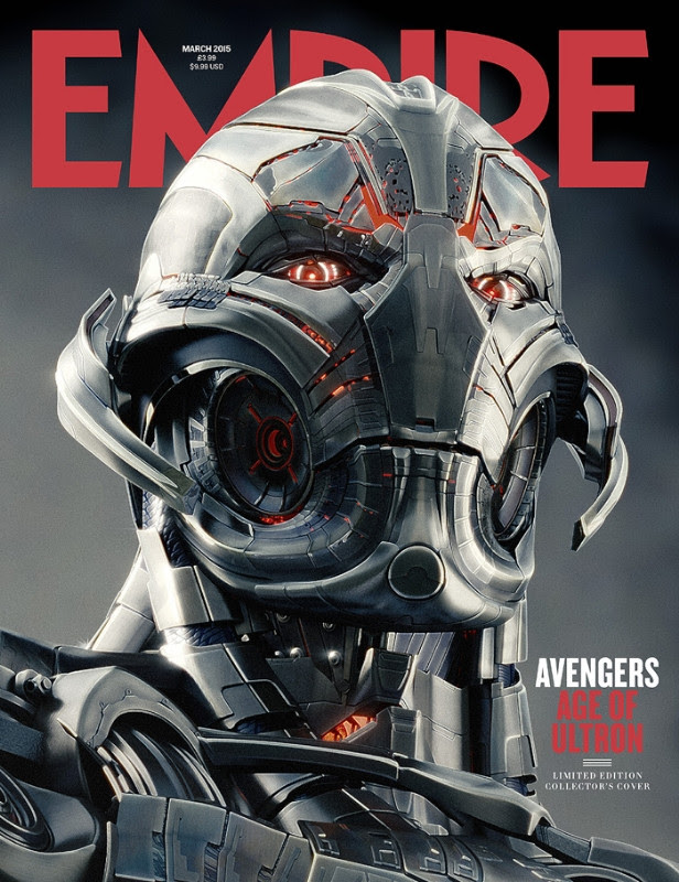 Ultron en la portada de Empire sobre Los Vengadores: La Era de Ultron