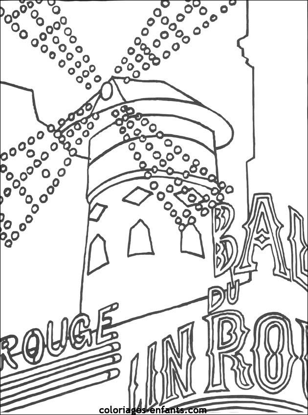 Coloriages Du Moulin Rouge