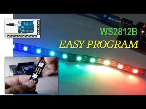 Cara Mudah Memrogram LED RGB WS2812B dengan Arduino dan Tinkercad