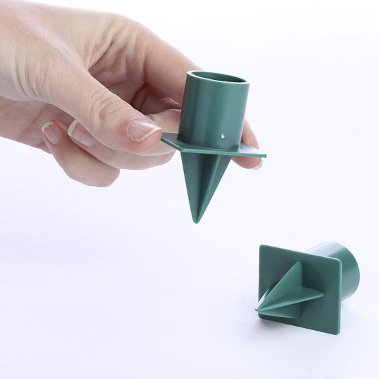 Green Plastic Candle Cups - Floral Design Accessories ...