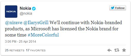 nokiatweet1 نوكيا.. عملاق سطرت مايكروسوفت لحظاته الأخيرة