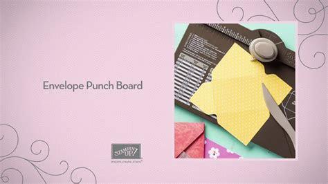 easy envelope making  paper envelope punch board stampin  youtube