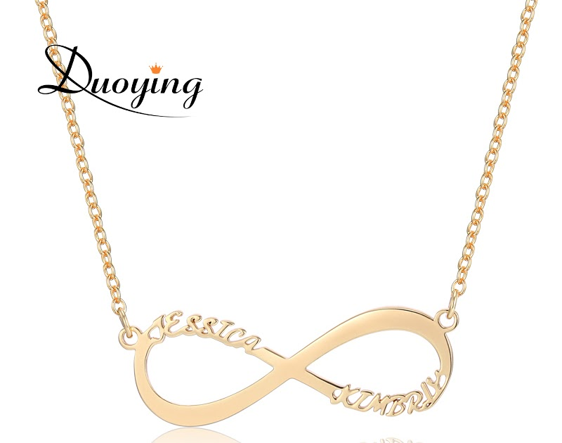 buy cheap duoying infinity necklace for women custom name