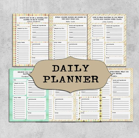 INSTANT DOWNLOAD Printable Daily Planner, Weekly planner, Quotes ...