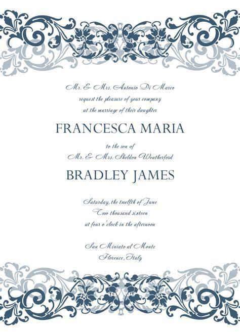 Free Wedding Design Invitation Template