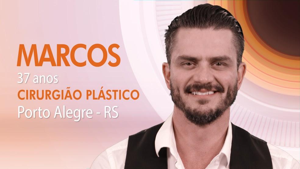 """Marcos, sétimo integrante do """"BBB17"""" (Foto: Globo/Divulgação)"""