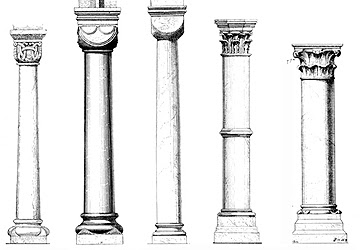 Glossary of Medieval Architecture:Column