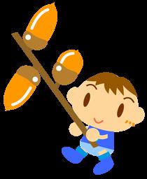 赤ちゃんと秋イラストかわいいフリー素材無料イラスト素材のプチッチ