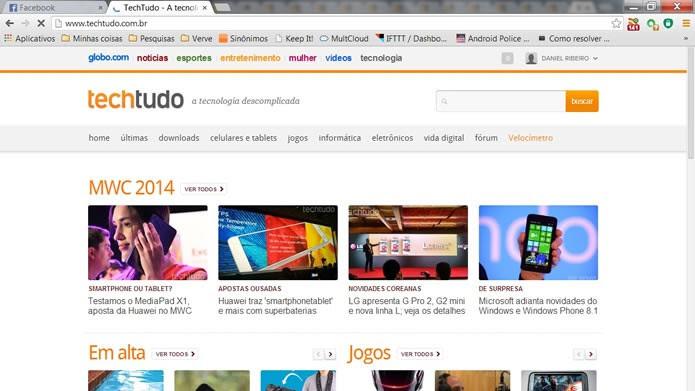 Utilize seu browser com um número razoável de abas de navegação (Foto: Reprodução/Daniel Ribeiro)