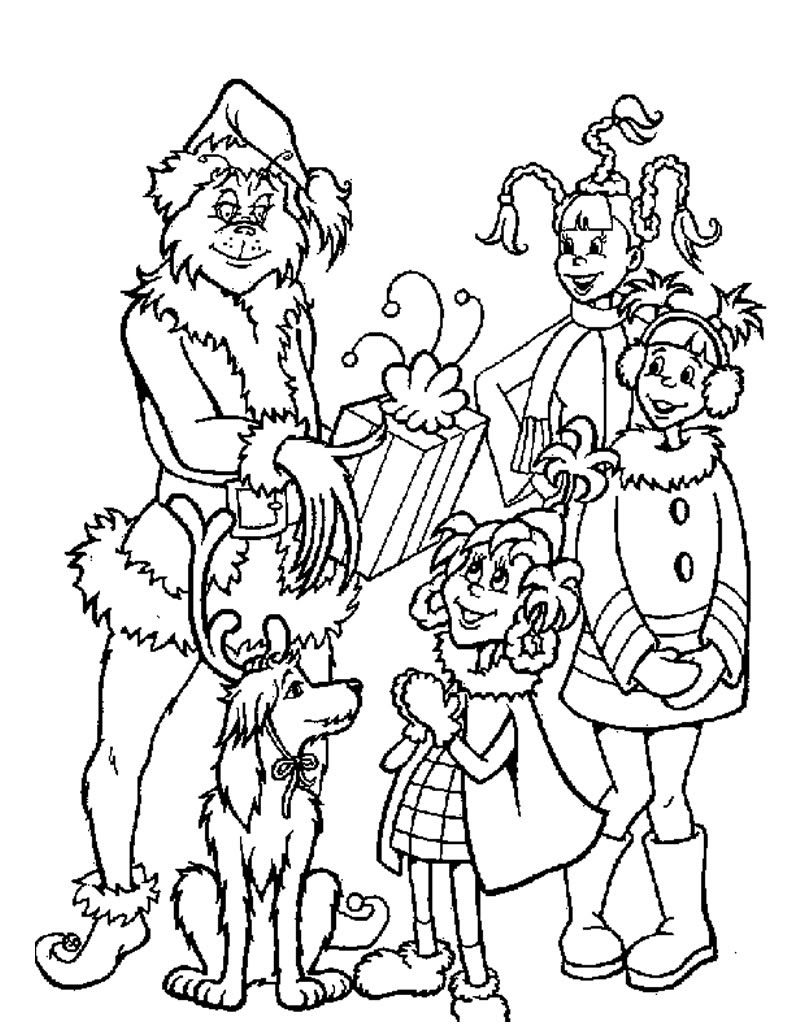 The grinch coloring pages to download and print for free