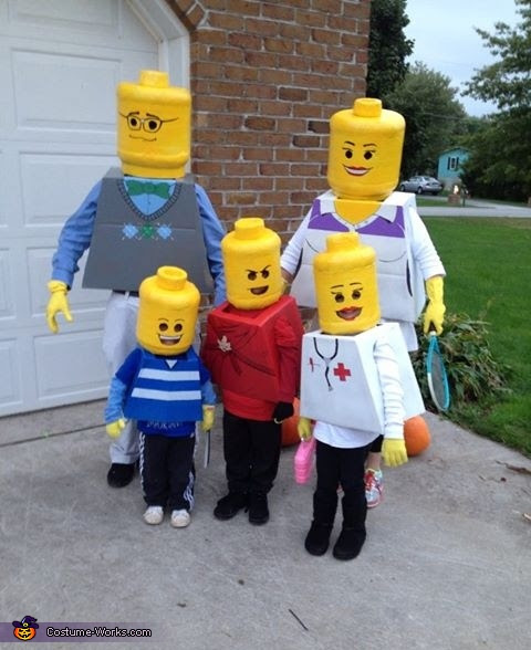 Lego Family - Homemade costumes for families