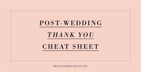 Post Wedding Thank You Templates   Philippines Wedding Blog