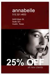 PCS-1035 - salon postcard flyer