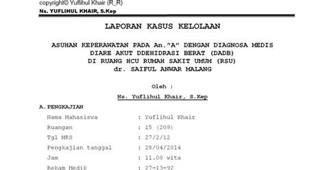 laporan kasus asuhan keperawatan