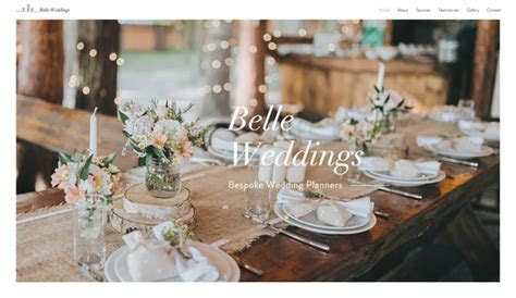 Weddings & Celebrations Website Templates   Events   Wix