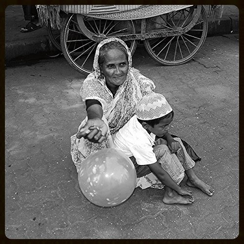 Grand Ma ..When I Grow Up You Wont Have To Beg by firoze shakir photographerno1