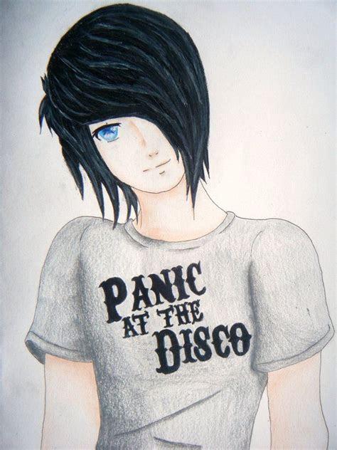 anime guy emo drawing emoscenelivin emo anime girl